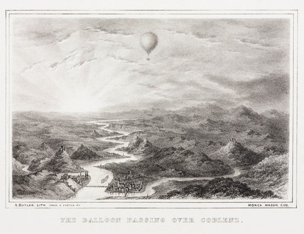 'The Balloon Pasing over Coblenz', 8 November 1836.
