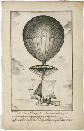'Mr Martyn's Design for an aerostatic Globe', 1783.
