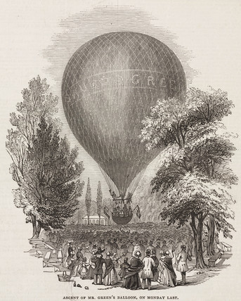 'Ascent of Mr Green's Balloon, on Monday Last', 1844-1852.