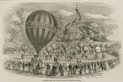 'Juvenile Fete and Balloon Race at Cremorne Gardens', 1859.