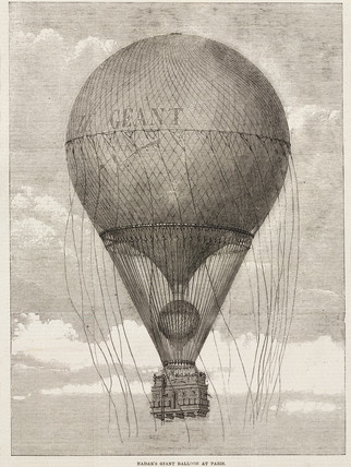 'Nadar's Giant Balloon at Paris', 1863-1867.