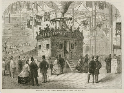 'The Car of Nadar's Balloon at the Crystal Palace', 1868.