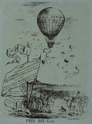 Poster advertising an aerostatic conference, 1880.