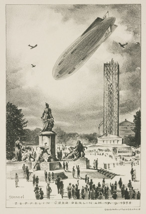 'Zeppelin over Berlin', 17 September 1938.