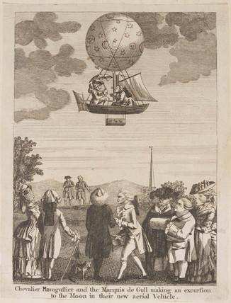 Balloon flight to the moon, 1784.