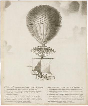 Martyn's aerostatic globe, 1784.