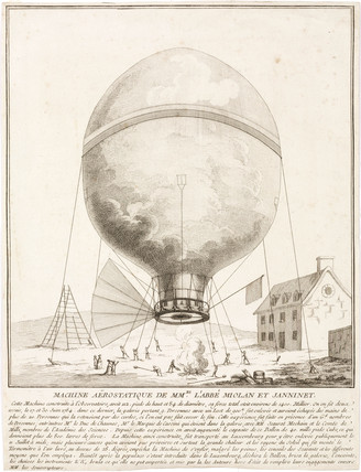 'Miolan and Janninet's aerostatic Machine', 1784.