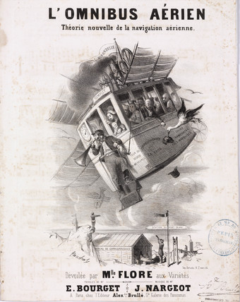 'aerial Omnibus. New Theory of aerial Navigation', c 1844-1870.