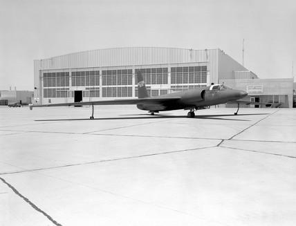 U-2 spy plane with fictitious NASA markings, California, 6 May 1960.