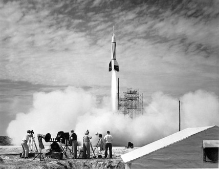 Bumper V-2 launch, Florida, USA, 24 July 1950.