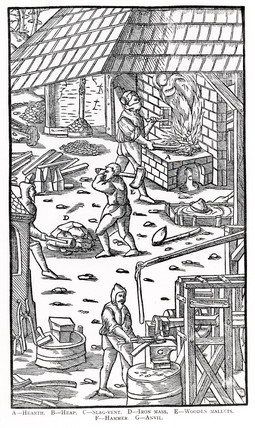 Iron bloomery and forge, 1555.