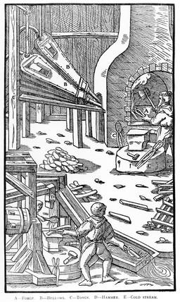 Steel making, 1555.