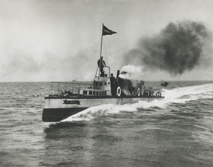 'Turbinia', turbine yacht, 1894.