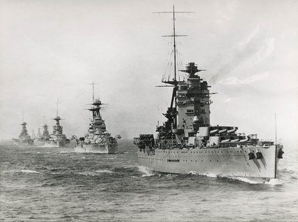 Atlantic fleet led by HMS 'Rodney', 1925.
