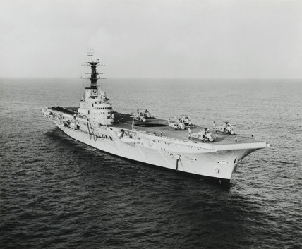 HMS 'Bulwark', aircraft carrier, 1948.