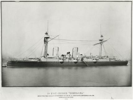 'Esmeralda', Chilean cruiser, 1884.