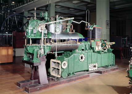 Parsons' axial flow steam turbine generator, 1902.