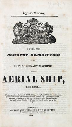 'aerial Ship, the Eagle', 1834-1835.