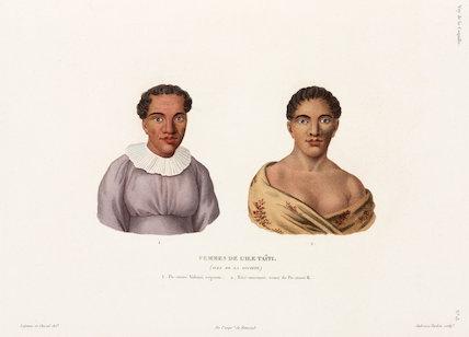 Women of Tahiti in the Society Islands, 1822-1825.