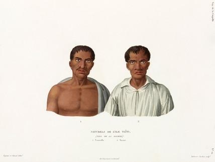 'Natives' of the island of Tahiti, (Society Islands), 1822-1825.
