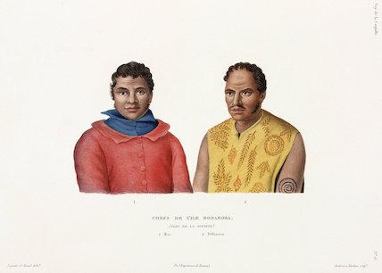 Chiefs of the island of Bora-Bora, (Society Islands), 1822-1825.