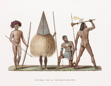 'Natives' of New Ireland (now Papua New Guinea), 1822-1825.
