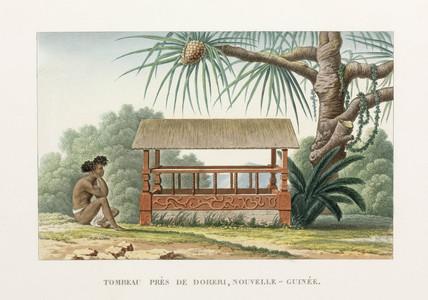 Tomb near Doreri, New Guinea, 1822-1825.