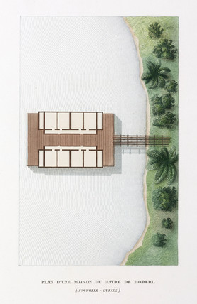 Plan of a house at the haven of Doreri, (New Guinea), 1822-1825.