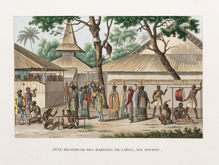 Religious festival at Caieli, Island of Buru, 1822-1825.
