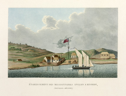 English mision at Kidikidi, New Zealand, 1822-1825.