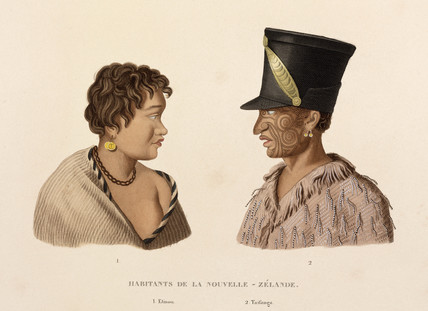 Etinou and Taifanga, New Zealand Maoris, 1822-1825.