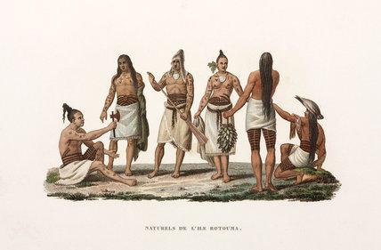 Inhabitants of the island of Rotuma, (now part of Fiji), 1822-1825.