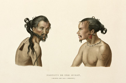 Inhabitants of the Caroline Islands, (now Micronesia), 1822-1825.