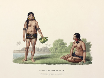 Women of the Caroline Islands, (now Micronesia), 1822-1825.