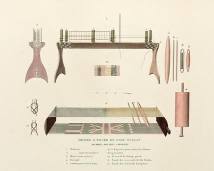 Loom from Oualan, Caroline Islands, (Micronesia), 1822-1825.