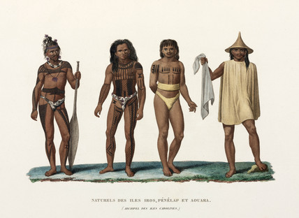Men from the Caroline Islands, (now Micronesia), 1822-1825.