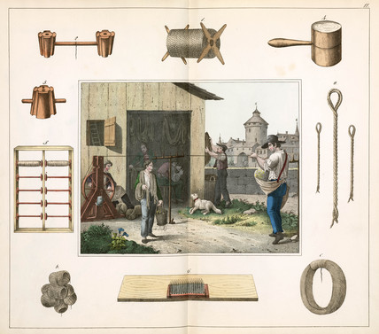 The ropemaker, 1849.
