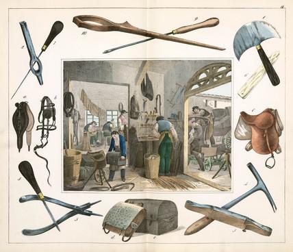 The saddle maker, 1849.