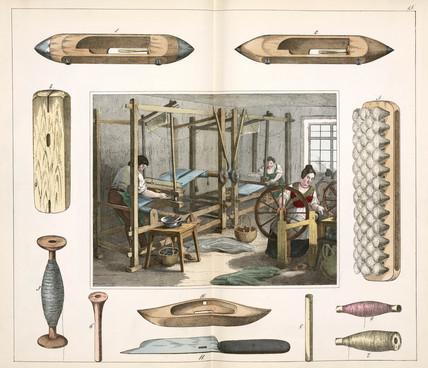 The weaver, 1849.