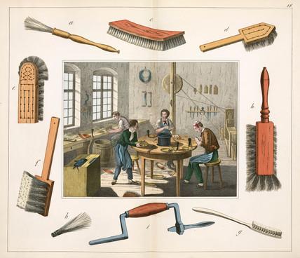 The brush maker, 1849.