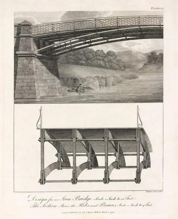 Design for an iron bridge, 1796.