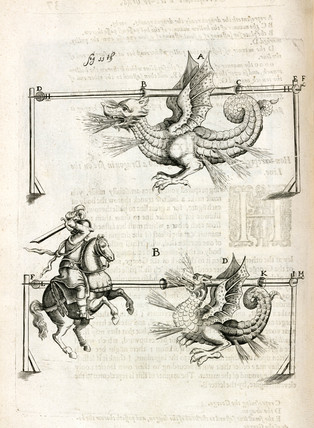 Firework dragons, 1635.