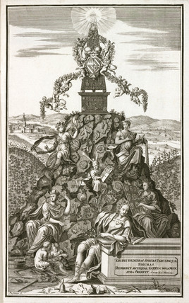 'Fosils' and allegorical figures, 1767.