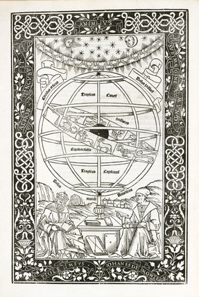 Frontispiece from Ptolemy's 'Almagest', 1496.