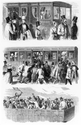 'A day at the races', c 1846.