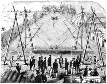 Trial of anchors, 1852.