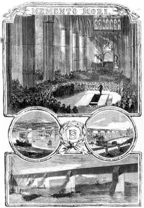Funeral of Robert Stevenson, Westminister Abbey, London, 1859.