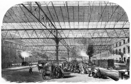Victoria Station Terminus, Pimlico, London, 1861.