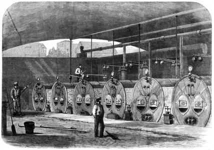 Boilers for 'Machinery in Motion' display, International Exhibition, London, 1862.