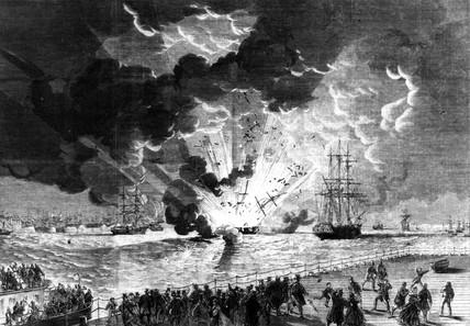 Lottie Sleigh explosion, Merseyside, 1864.